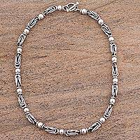 Sterling silver chain necklace, 'Marvelous Lighthouse' - Sterling Silver .925 Chain Necklace from Mexico