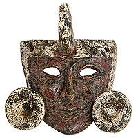 Ceramic mask, 'Zapotec Nobleman' - Handcrafted Pre-Hispanic Zapotec Ceramic Replica Mask