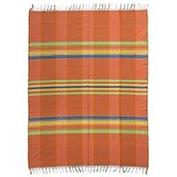 Cotton tablecloth, 'Sun Catcher' - 100% Cotton Handmade Multi-colored Tablecloth from Mexico