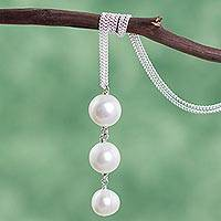 Featured review for Cultured freshwater pearl pendant necklace, Stair of Pearls