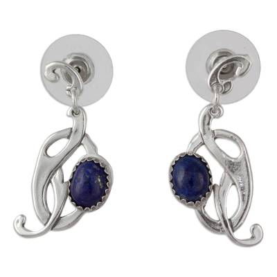 Handcrafted Lapis Lazuli and Sterling Silver Earrings