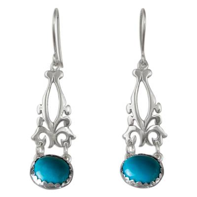 Fair Trade Sterling Silver Earrings with Natural Turquoise