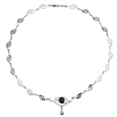 Lapis Lazuli and Sterling Silver Handcrafted Necklace