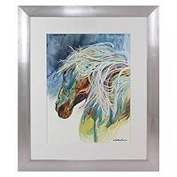 'Corcel' - Original Framed Watercolor Painting of Horse from Mexico