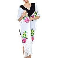 Cotton applique scarf,