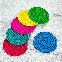 Natural fiber coasters,