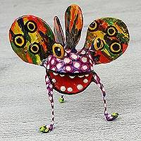 Papier mache Alebrije sculpture, 'Phantasmagorical Monster' - Surreal Mexican Alebrije Artisan Crafted Paper Sculpture