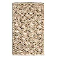 Wool area rug, 'Hacienda Ecru' (2.5x4) - Hand Woven Ecru Color Wool Textured Rug (2.5x4)