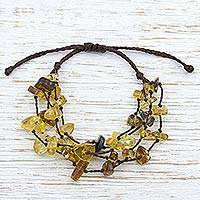 Amber beaded bracelet, 'Ancient Strands' (Mexico)