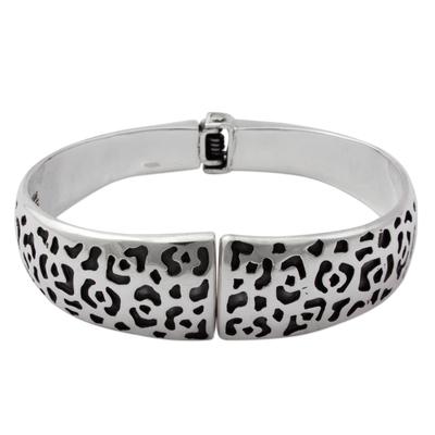 925 Taxco Silver Jaguar Bangle Bracelet Handmade in Mexico