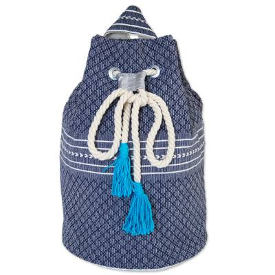 Drawstring Cotton Backpack Handcrafted in Mexico