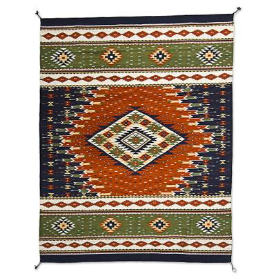 Zapotec wool rug, 'Forest Nights' (4x6) - Forest Theme Zapotec Wool Area Rug in Earth Tones (4x6)