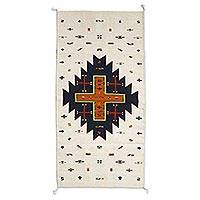 Zapotec wool area rug, 'Serene Landscape' (3x5) - Geometric Patterned 100% Wool Area Rug in Earth Tones (3x5)