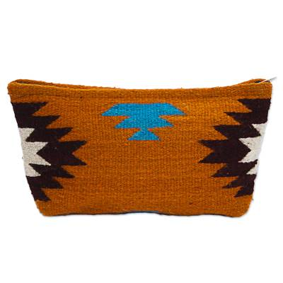 Hand Made Wool Clutch Handbag Sunrise from Mexico