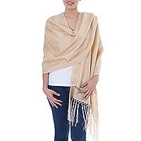 Fringed shawl,