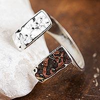 Sterling Silver Wrap Ring Shining Gap (mexico)