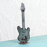 Recycled auto parts sculpture, 'Guitar Glory' - Handcrafted Recycled Auto Parts Guitar Sculpture