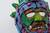 Papier mache mask, 'Colorful Huehueteotl' - Hand Crafted Papier Mache Mask of an Aztec God from Mexico (image 2e) thumbail