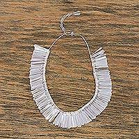 Sterling silver pendant necklace, 'Taxco Chimes' - Taxco 925 Sterling Silver Pendant Necklace from Mexico