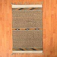 Zapotec wool rug, 'Golden Brown Forest' (2.5x4.5) - Handwoven Zapotec Wool Rug in Golden Brown (2.5x4.5)