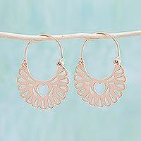 Rose gold plated hoop earrings,