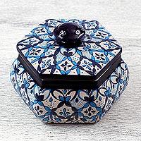 Decorative ceramic box,