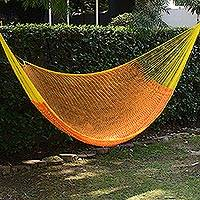 Hammock, 'Daffodil Dreams' (double) - Handwoven Double Maya Hammock in Daffodil from Mexico