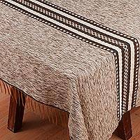 Cotton blend tablecloth, 'Seeds of Hope' - Woven Cotton Blend Tablecloth from Mexico