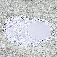 Linen and cotton coasters,