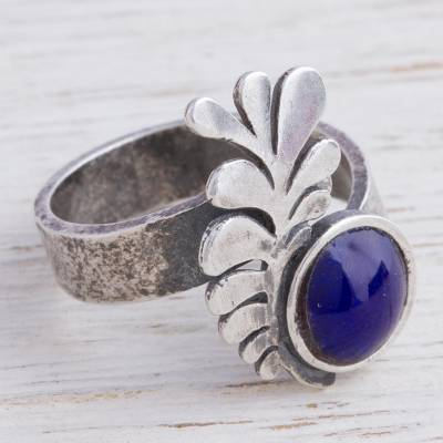 Sterling Silver and Bronze Feather Cocktail Ring