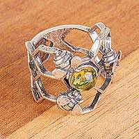 Featured review for Amber cocktail ring, Glowing Honey