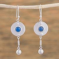 Agate dangle earrings,