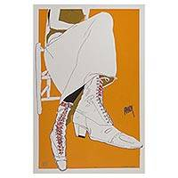 'Lace-up Boots' (2005) - Mexico Signed Numbered Silkscreen Print (35 Inches)