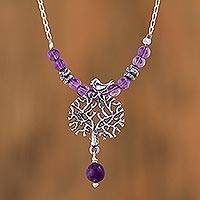 Amethyst pendant necklace Avian Arbor (Mexico)