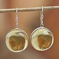 Featured review for Amber dangle earrings, Amber Sunset