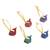 Wood alebrije ornaments, 'Sweet Whales' (set of 5) - Painted Wood Alebrije Whale Ornaments (Set of 5) from Mexico (image 2d) thumbail