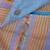Cotton sling, 'Pastel Dream' - Loom Woven Blue Striped 100% Cotton Sling from Mexico (image 2d) thumbail