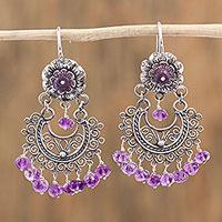 Amethyst chandelier earrings,