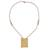 Gold-accented cultured pearl beaded pendant necklace, 'Fascinating Innocence' - Cultured Pearl and 18k Gold-accented Beaded Pendant Necklace (image 2a) thumbail