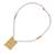 Gold-accented cultured pearl beaded pendant necklace, 'Fascinating Innocence' - Cultured Pearl and 18k Gold-accented Beaded Pendant Necklace (image 2d) thumbail