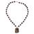 Agate and quartz beaded pendant necklace, 'In Harmony with Nature' - Agate and Quartz Beaded Pendant Necklace from Mexico (image 2a) thumbail