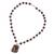 Agate and quartz beaded pendant necklace, 'In Harmony with Nature' - Agate and Quartz Beaded Pendant Necklace from Mexico (image 2c) thumbail