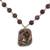 Agate and quartz beaded pendant necklace, 'In Harmony with Nature' - Agate and Quartz Beaded Pendant Necklace from Mexico (image 2d) thumbail