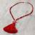 Agate and marble beaded pendant necklace, 'Splendid Stone' - Agate and Marble Beaded Pendant Necklace with Red Tassel (image 2b) thumbail