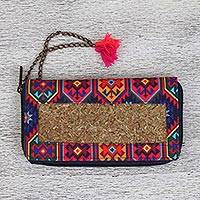 Natural fiber wallet, 'Native Culture' - Colorful Natural Fiber Wallet from Mexico