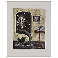 'Nochisirena' - Surrealist Painting of a Mermaid from Mexico