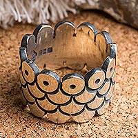 Sterling silver band ring, 'Stroke of Luck' - Handcrafted Sterling Silver Band Ring from Mexico