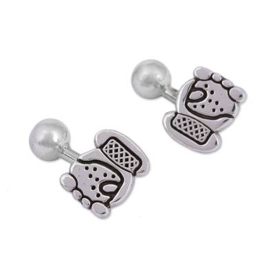 Handcrafted Sterling Silver Cufflinks from Mexico