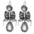 Glass beaded filigree chandelier earrings, 'Fabulous Bows' - Glass Beaded Filigree Chandelier Earrings from Mexico (image 2a) thumbail