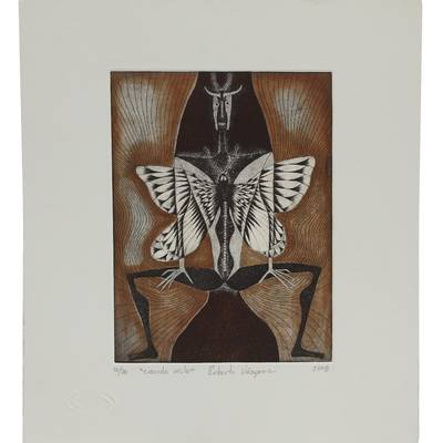 'When I Fly' - Butterfly-Themed Surrealist Ink Print from Mexico